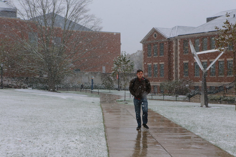 Spring semester is in full swing with full, chilly wind gusts and the promise of snow. The Dean's Office sent out its annual notice to students to prepare them for the harsh winter weather. (Junbo Huang/The Daily Campus)