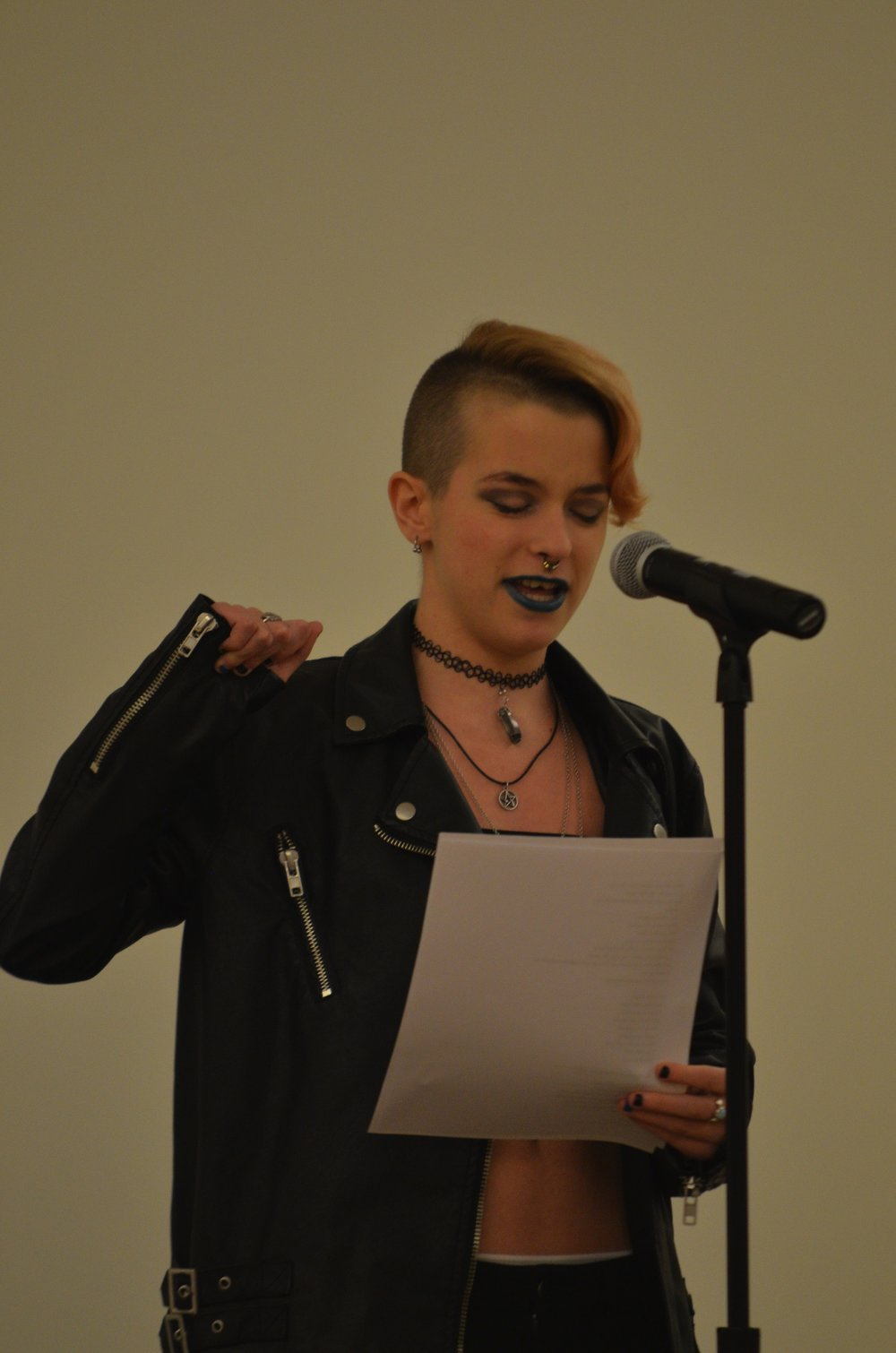 Poetic Release's holds their annual Grand Slam at the Student Union Ballroom on Thursday where their member presented their pieces.(Akshara Thesjawi/ The Daily Campus)