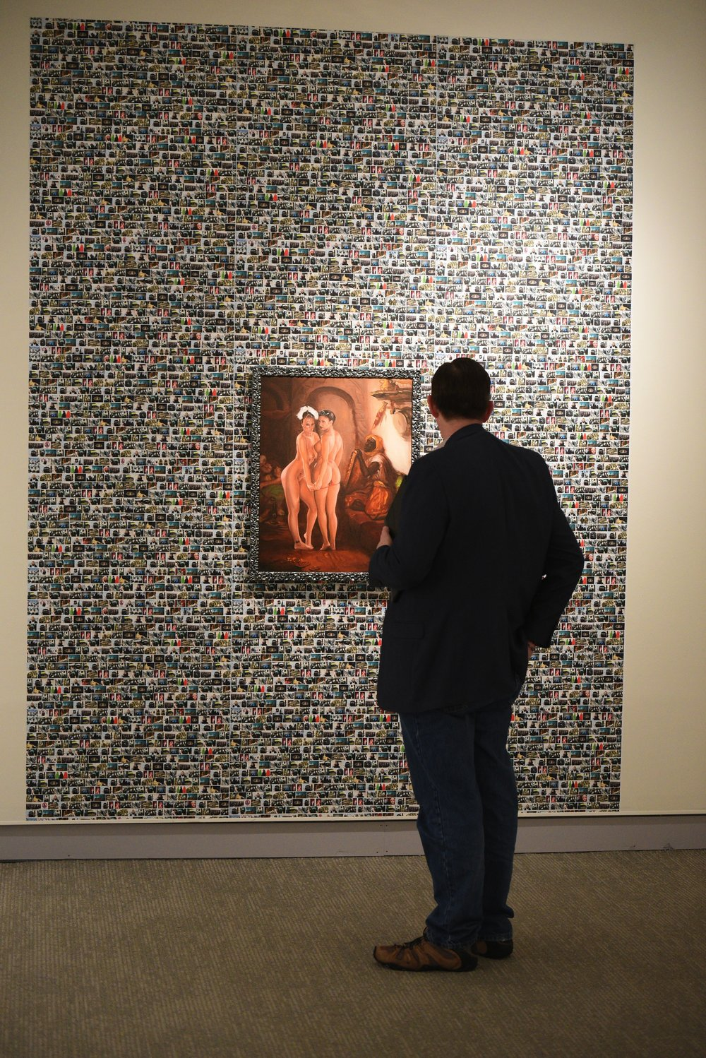 "The William Benton Museum of Art holds opening for a new exhibit called, ""UConn Reads: Sacred Ground."" (Allen Zhun/ The Daily Campus"