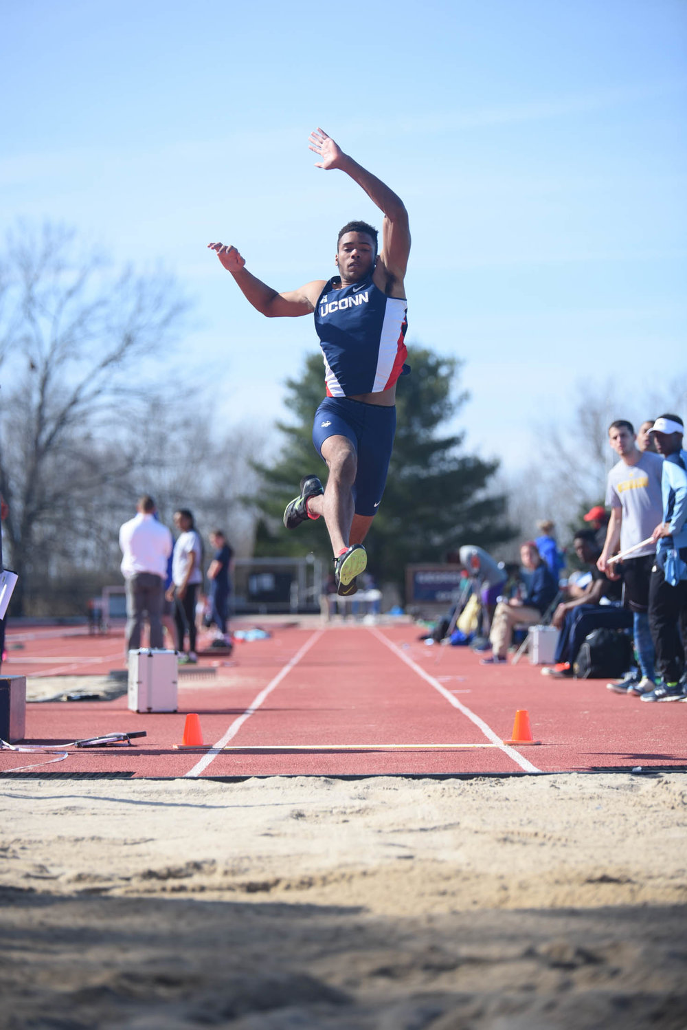The UConn men's track and field team is preparing for the Columbia East-West Challenge following a a disappointing second-place finish in a meet last week. (Zhelun Lang/The Daily Campus)