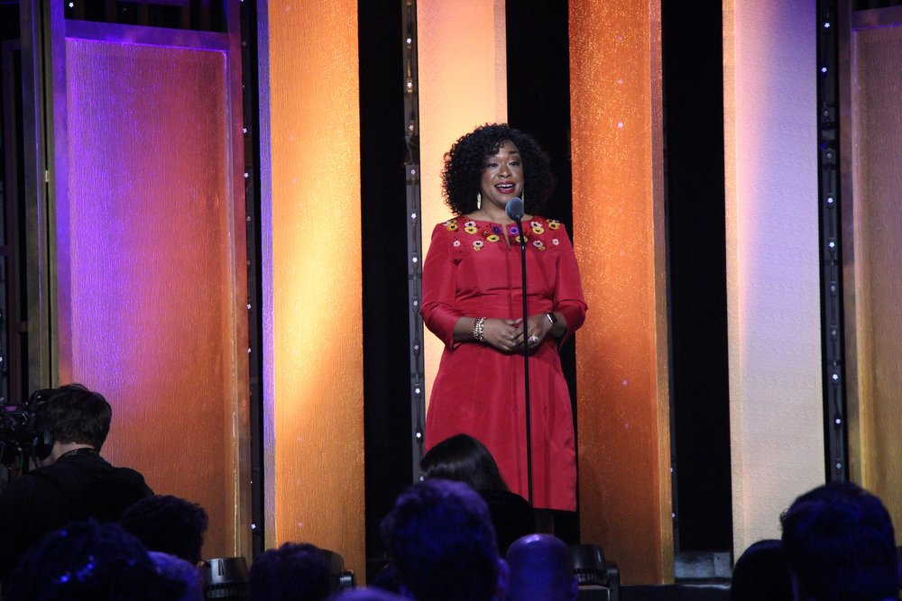 Shonda Rhimes presented a reflection on the past 75 years in the entertainment industry. (Sarah E. Freeman/ Flickr Creative Commons)