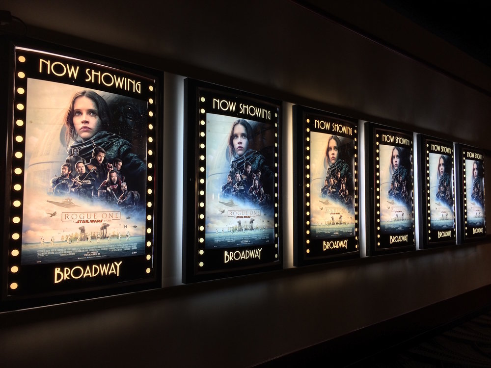 """Rogue One: A Star Wars Story"" posters lined movie theaters for months. (Alexis/Flickr, Creative Commons)"
