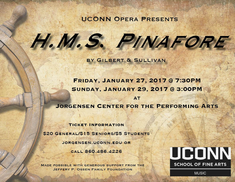 """H.M.S. Pinafore"" is the first production of 2017 for UConn Opera. (Screenshot/UConn School of Fine Arts)"