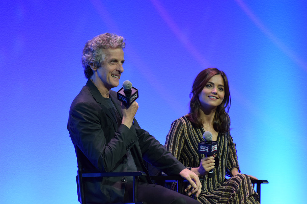 """Doctor Who's"", Peter Capaldi and Jenna Coleman, at Awesome Con 2016 in Washington, D.C. (Pat Cuadros/Flickr Creative Commons)"