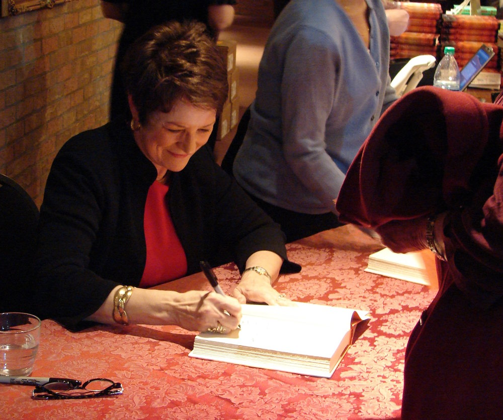 "Sue Monk Kidd at a book signing event in Albuquerque, New Mexico in Feb. of 2014. Her most recent novel titled ""The Invention of Wings"" explores the moral dilemma presented by slavery through the eyes of two women. (Veesees/Creative Commons)"