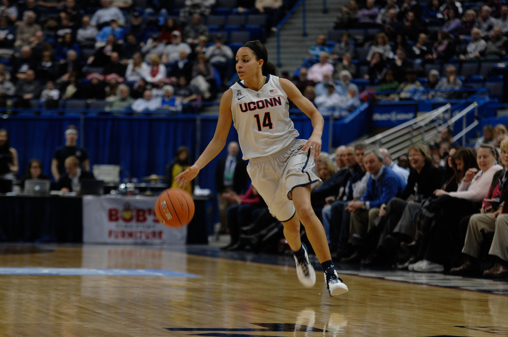Bria Hartley at one of her last UConn games Feb. 9, 2014 against South Carolina at South Carolina.  The Huskies won 87-62.  Bria Hartley was on of the three players that have recently been involved in large WNBA trades moving to the New York Liberty.  (File Photo/ The Daily Campus)