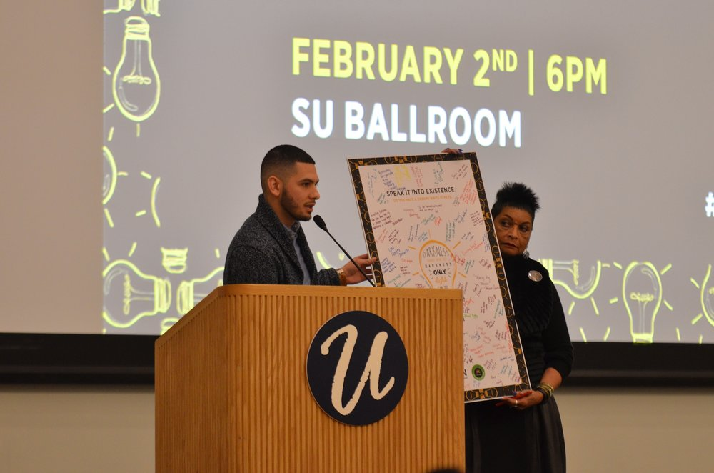 The African-American Cultural Center hosted a lively and spirited celebration of the beginning of Black History month on Thursday, February 2, in the Student Union Ballroom.(Akshara Thejaswi/The Daily Campus)