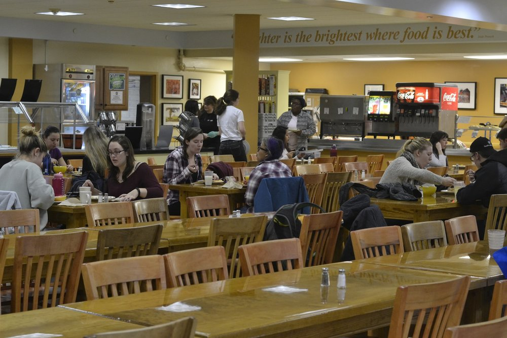 Deciding whether or not to speak to the stranger across the table at Whitney dining Hall. (File Photo/The Daily Campus)
