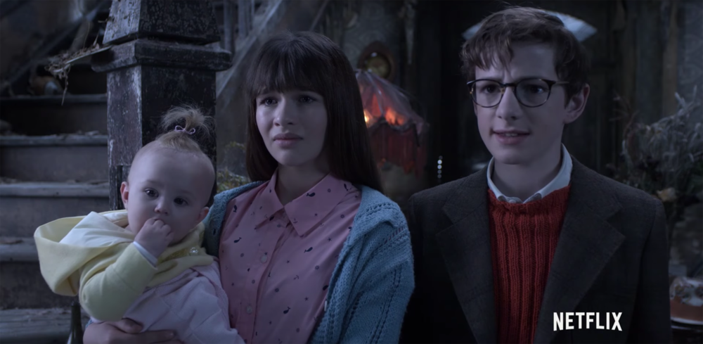 """A Series of Unfortunate Events"" follows the lives of the newly orphaned Baudelaire children, who bounce from home to home in what is quite literally a series of unfortunate events. Their first guardian, Count Olaf (Neil Patrick Harris), cares only about the Baudelaire's massive inheritance, hatching schemes throughout the series in hopes of getting the money all for himself.  (Netflix/screenshot)"