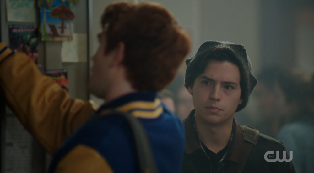 "Cole Sprouse (right) and KJ Apa (left) in The CW's new show ""Riverdale"".  (Screenshot/The CW)"