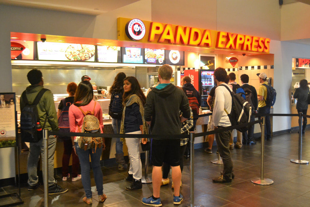 Students wait in line at the ever popular Panda Express in the Student Union. (File Photo/The Daily Campus)