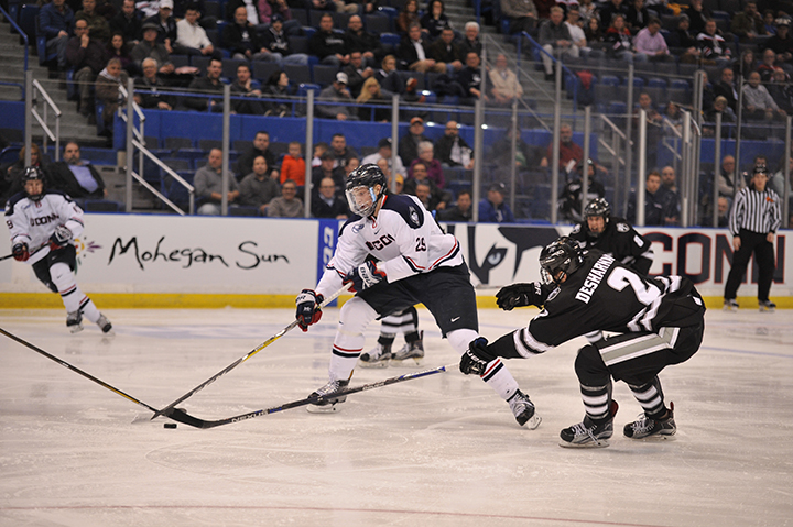 UConn Men's hockey loses to Providence College with the final score of 1-4 at XL center on February 8, 2017. (Jason Jiang/ The Daily Campus)