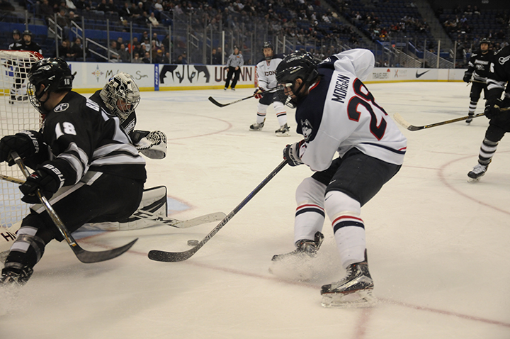 UConn Men's hockey loses to Providence College with the final score of 1-4 at XL center on February 8, 2017 (Angie DeRosa/ The Daily Campus)