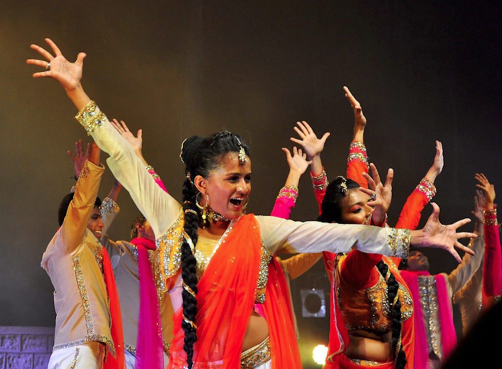 The Taj Express performed a show at the Jorgensen with a huge variety of singing, cultural dancing, young romance, stunning visuals and a captivating story for any audience. (Photo courtesy of tajexpressthemusical.com)
