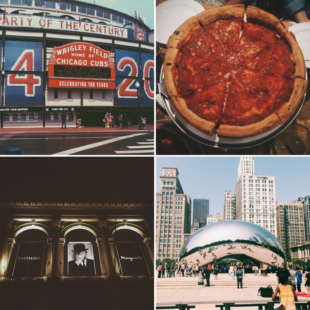 Wrigley Field, pizza and more. Chicago has something for everyone. (Angie DeRosa/The Daily Campus)