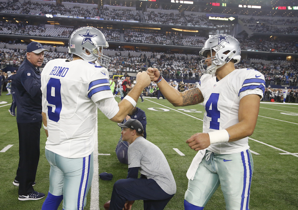 Now that NFL Offensive Rookie of the Year Prescott is entrenched as the starting quarterback for the Cowboys, it will be fascinating to see what happens with his predecessor, Tony Romo. (AP Photo/Michael Ainsworth, File)