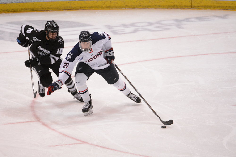 The UConn Men's ice hockey team was swept by Providence College this year by scores of 4-1 and 4-3. (Jason Jiang/The Daily Campus)