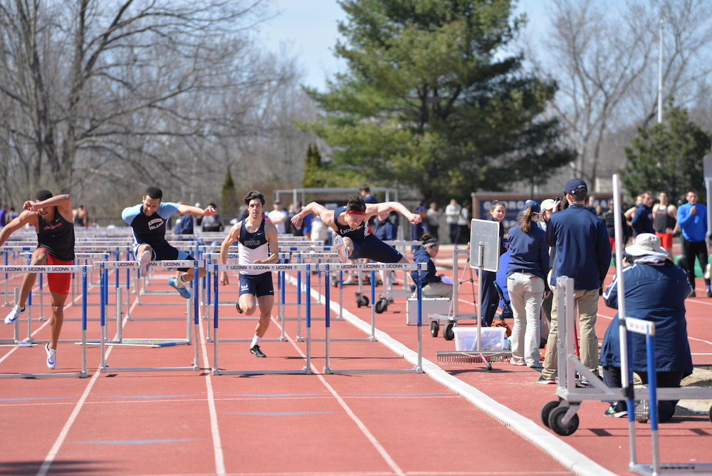 UConn Track and Field hosted the 2016 Husky Invitational (men) and 2016 Husky Northeast Challenge (women) where both teams were victorious over Northeastern, Buffalo, Rhode Island, Albany and Southern Connecticut State University on Saturday afternoon at the Sherman sports complex. (Amar Batra/The Daily Campus)