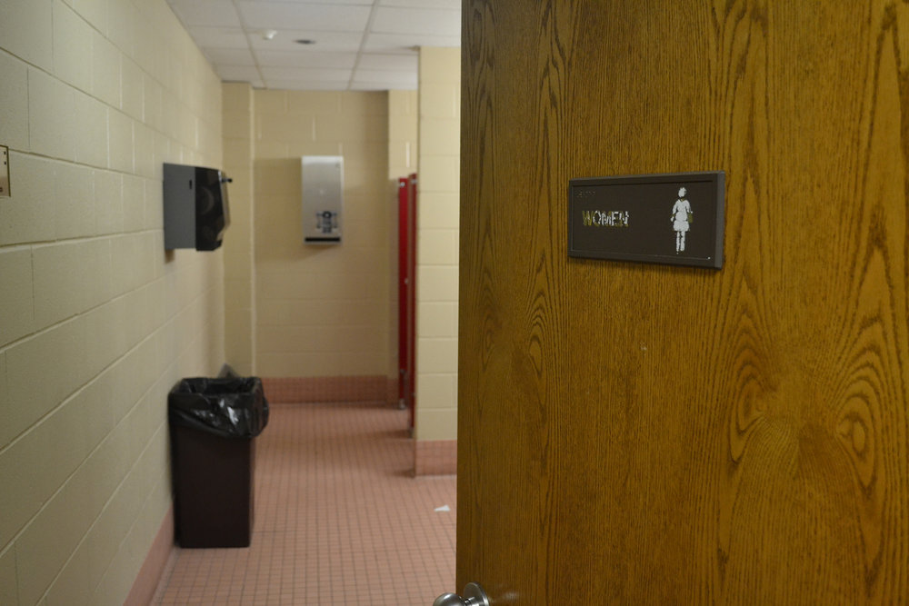 USG is working to provide free feminine hygiene products in women's and gender neutral bathrooms across UConn campus beginning in March. (Olivia Stenger/ The Daily Campus)