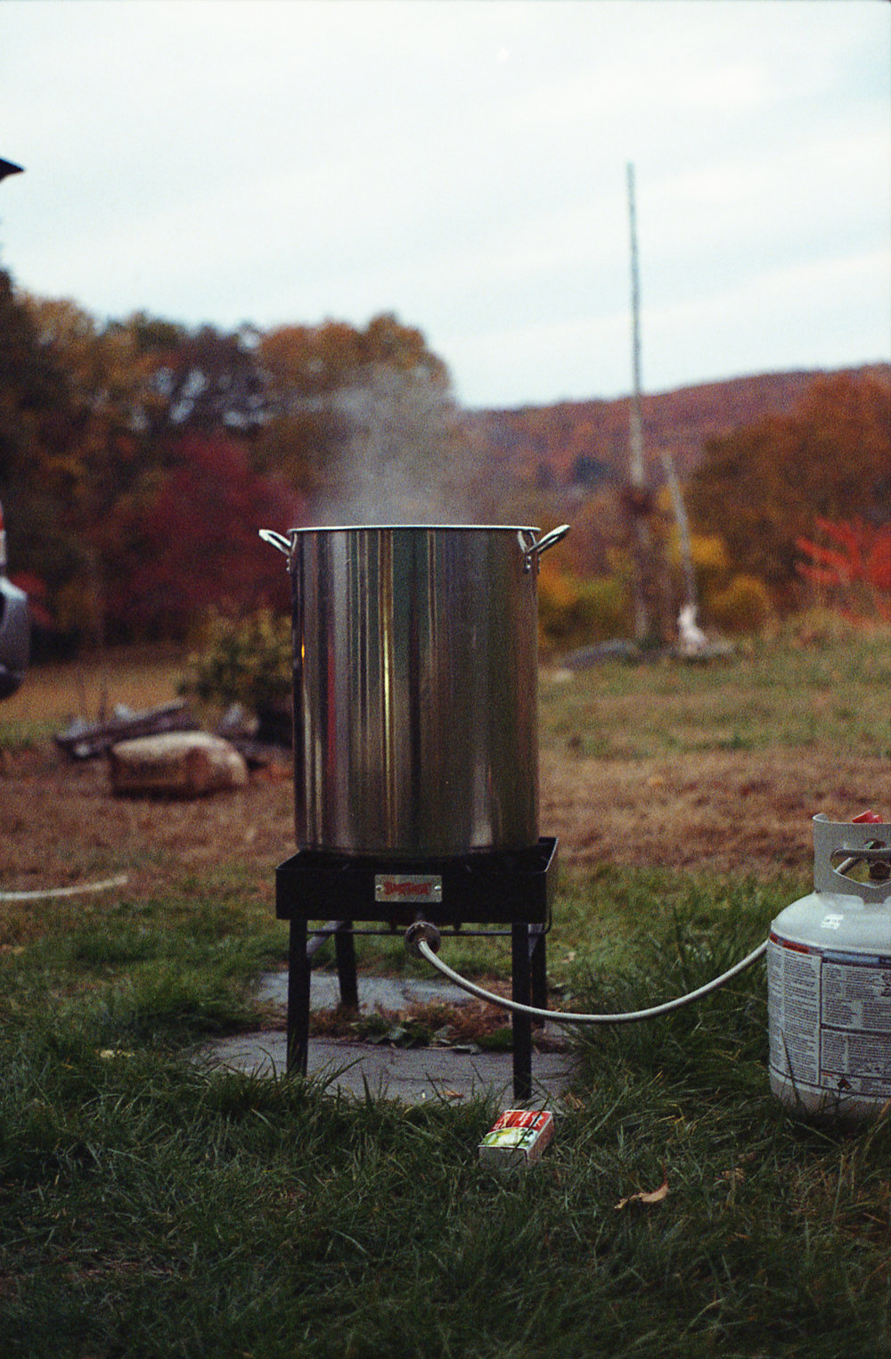 The mash tub set up for Bogdan's home brewery, which he operates while attending UConn. (Courtesy/Steve Bogdan)