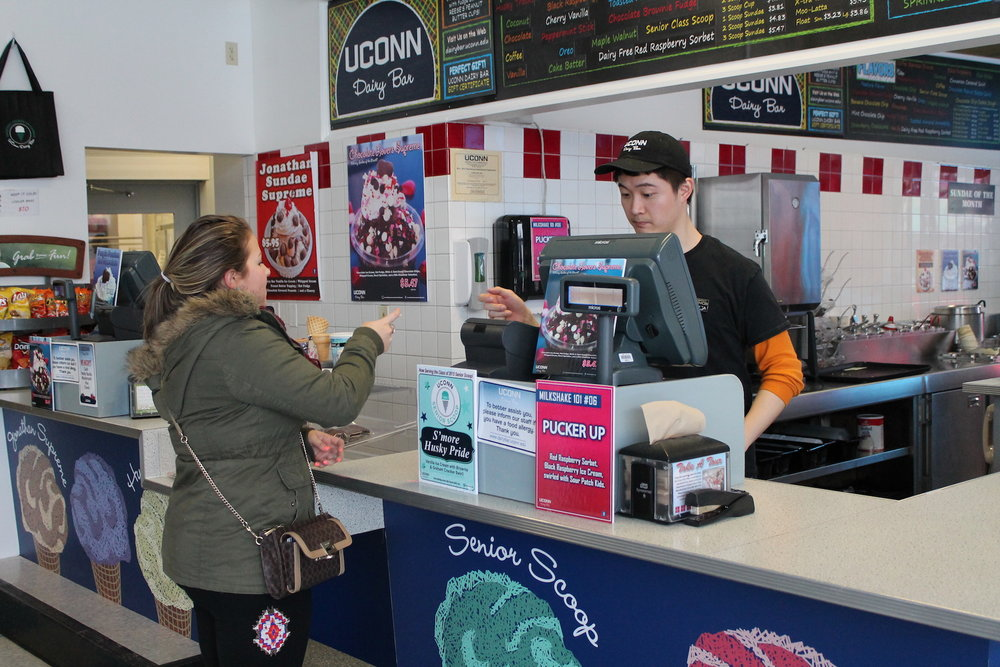 UConn is known for its homemade ice cream from the Dairy Bar. It's a favorite among UConn students, who can be found at either of the Dairy Bar's locations by Horsebarn Hill or in the Student Union. (File Photo/The Daily Campus)