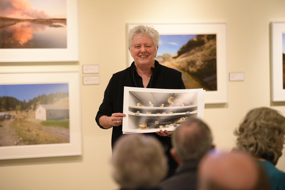 Janet L. Pritchard talks about her photography project in the Yellowstone National Park. The project explores our national love affair with America's first national park through the lenses of nature, culture, and history. (Zhelun Lang/The Daily Campus)