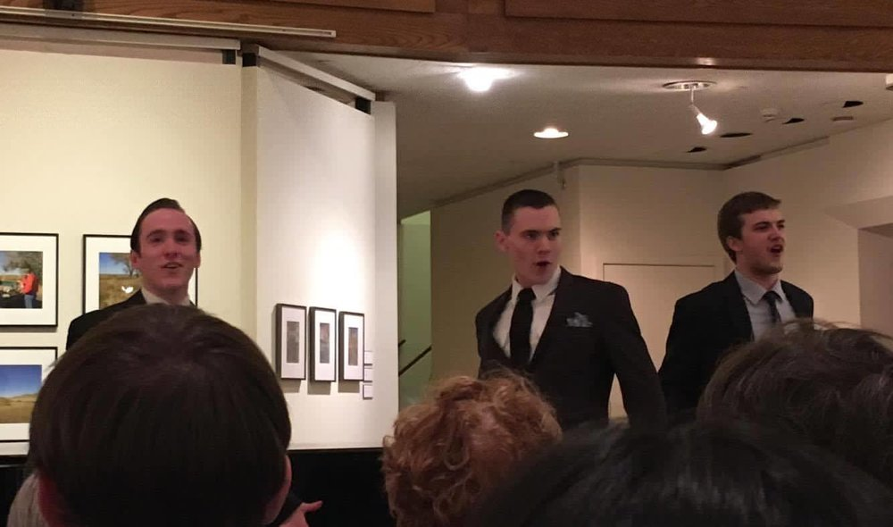 """UConn students perform at """"The Great American Songbook"""" in the Benton Museum on Sunday, Feb. 20, 2017. (Lucille Letterfield/The Daily Campus)"""