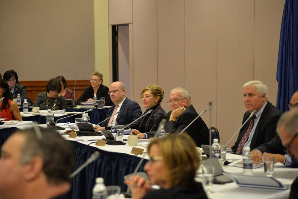 The UConn Board of Trustees met Wednesday morning in NextGen Hall to discuss how Gov. Dannel Malloy's budget proposal would affect construction projects on campus. Several updated construction contracts were updated at the meeting. (Amar Batra/The Daily Campus)