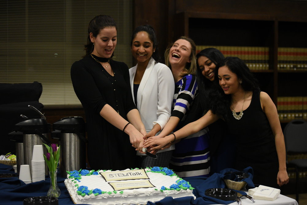 Students are celebrating the success launch of the first issue of STEM Talk. STEM Talk Launch party is meant celebrate and show off all of the hard work that STEMTalk members have put into the inaugural issue. (Zhelun Lang/The Daily Campus)