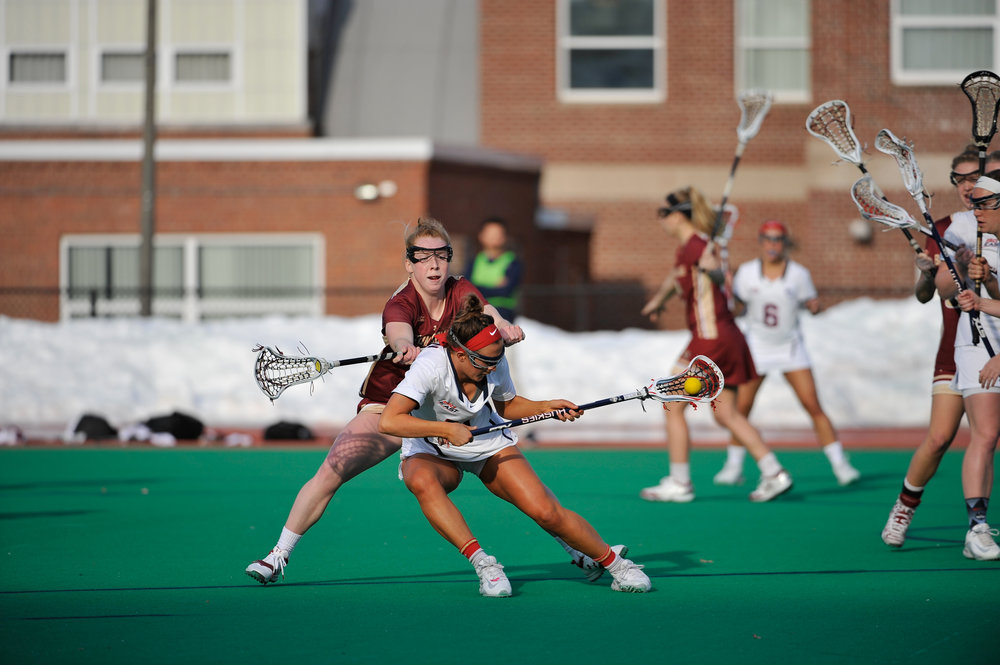UConn women's lacrosse team loses to Boston College during home opener 14-11 on Wednesday, Feb. 22, 2017 at George J. Sherman Family Sports Complex. (Jason Jiang/The Daily Campus)