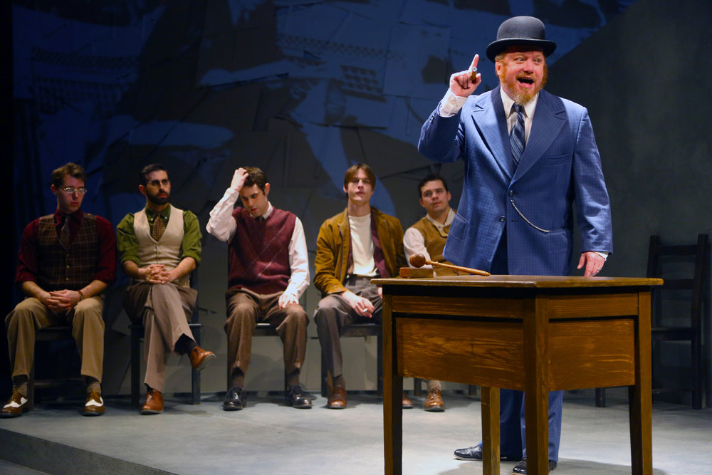 Michael Lewis (Harry Fatt) is the union leader in WAITING FOR LEFTY by Clifford Odet onstage thru March 5 in Connecticut Repertory Theatre's Nafe Katter Theatre. (Gerry Goodstein/Connecticut Repertory Theatre).