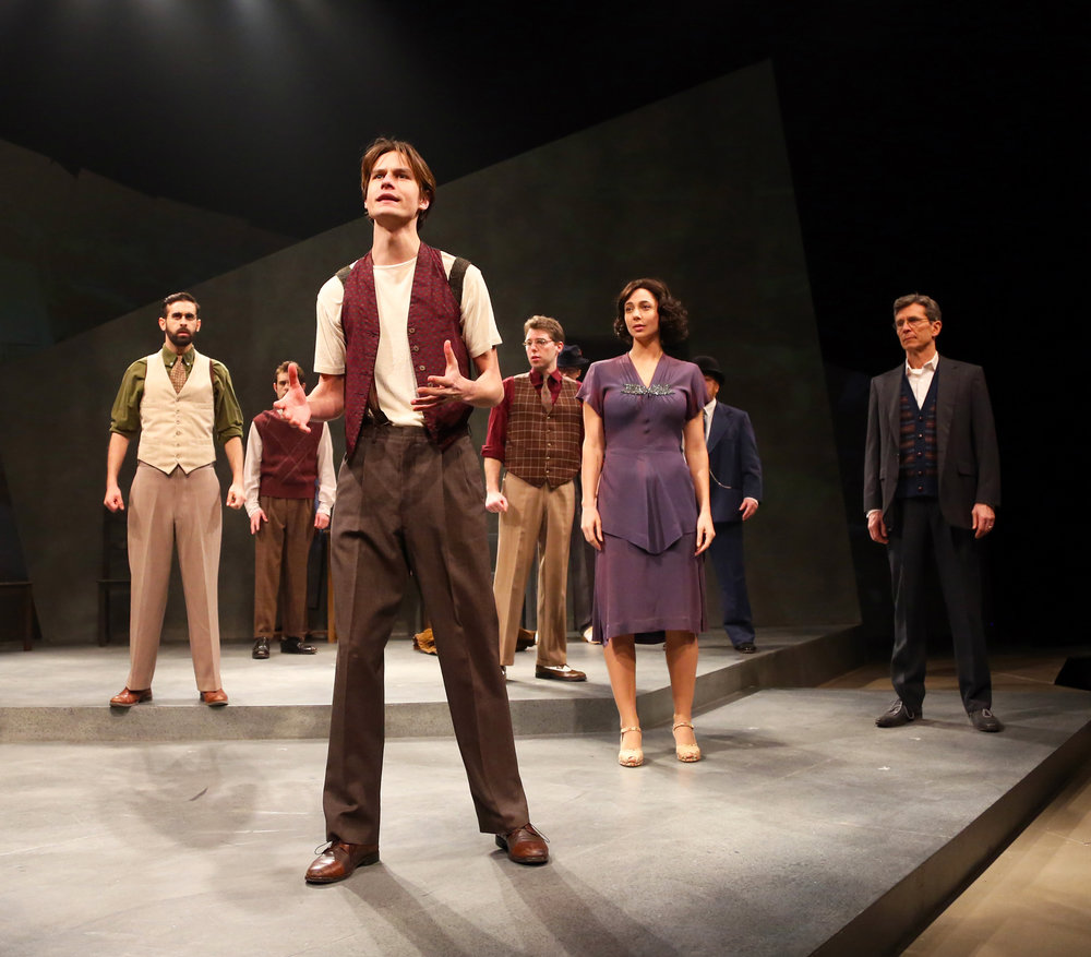 Ben Senkowski and the cast prepare to strike in WAITING FOR LEFTY by Clifford Odets onstage thru March 5 in Connecticut Repertory Theatre's Nafe Katter Theatre. (Gerry Goodstein/Connecticut Repertory Theatre)