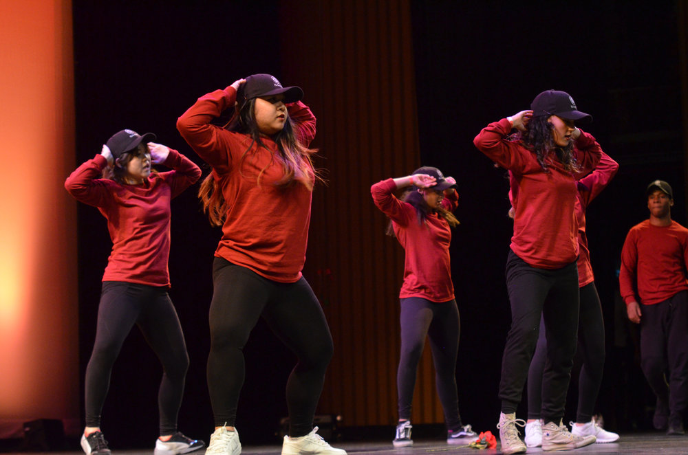 Illum8 Dance crew wows the crowd at Asian Nite 2017 on Saturday evening at the Jorgensen Center for the Performing Arts. (Akshara Thejaswi/The Daily Campus)