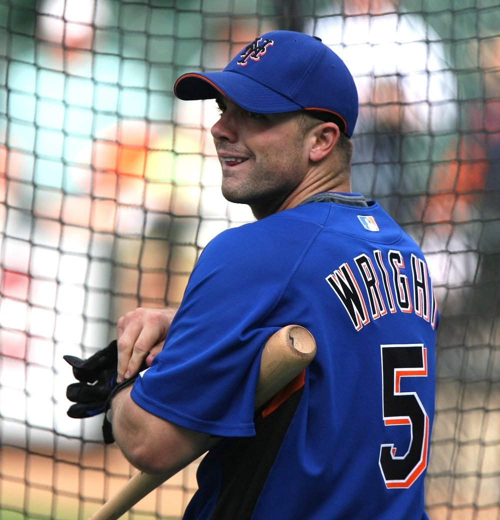 David Wright, third baseman for the New York Mets, is currently sidelined by shoulder impingement. (Keith Allison/Creative Commons Flickr)