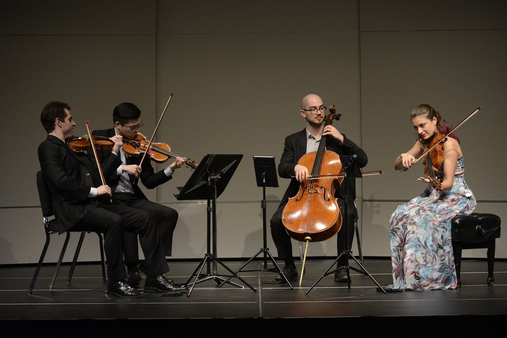 Dover Quartet performance third part of Beethoven Quartet Cycle on February 28, 2017 in Jorgensen Center for the Performing Arts. (Jason Jiang/The Daily Campus)