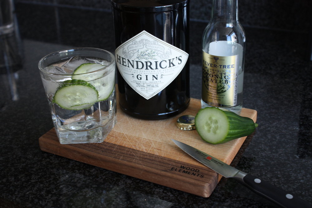 This week's drink of the week is meant to soothe your post-midterm bloating from stress eating. It's a combination Hendrick's Gin, cucumbers and tonic water. (Photo courtesy of sipbitesavour.com)