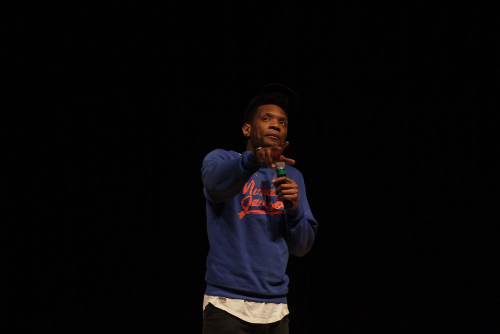 "Comedian Seaton Smith performed in the Student Union theater Wednesday, March 1 as a part of SUBOG's comedy series. He has appeared on well-known comedy shows like ""Late Night with Sethy Meyers,"" ""Inside Amy Schumer"" and ""The Nightly Show."" (Jordan Richardson/The Daily Campus)"