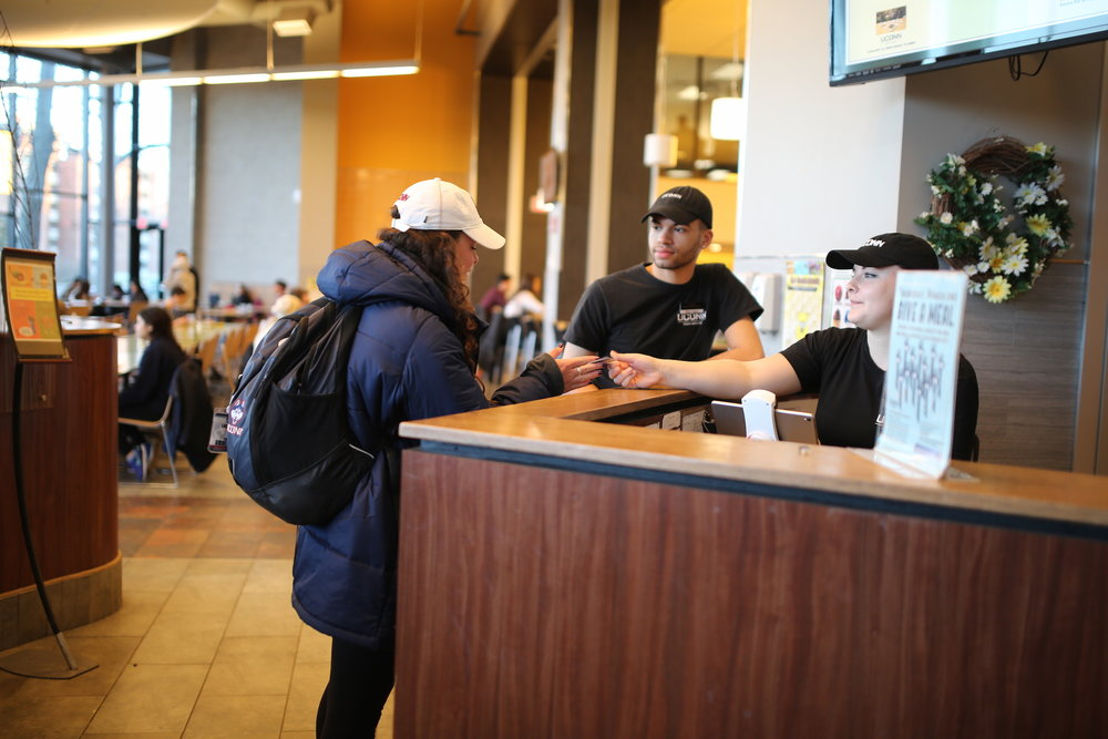 UConn students donated over 3,000 flex passes on March 2 for the Give a Meal event. The swipes were given to local food organizations. (Tyler Benton/The Daily Campus)