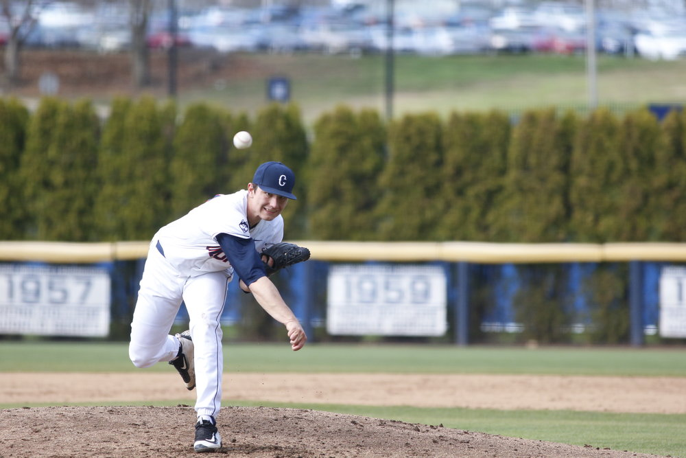 The pitching staff lead the way for the Huskies this weekend as UConn ends the weekend at a 6-4 record. (Tyler Benton/The Daily Campus)