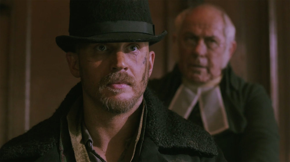 "Tom Hardy in his latest show ""Taboo"" which he both wrote and stars in. (photo courtesy of FX)"