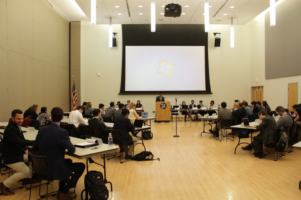 Members of USG at a senate meeting on February 22, 2017 in the Student Union Ballroom. (Jordan Richardson/The Daily Campus)