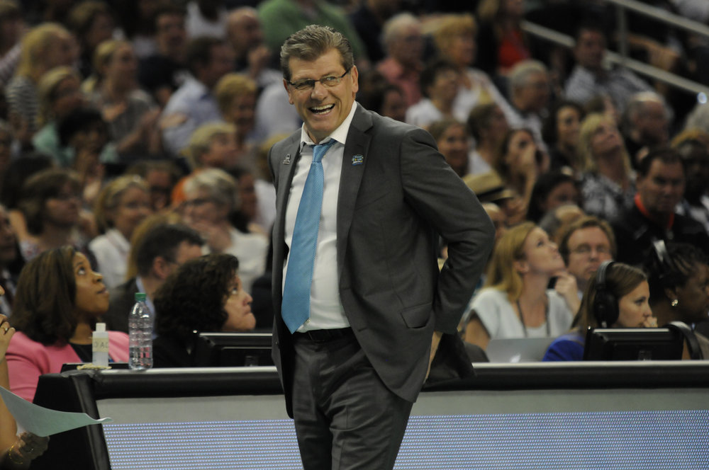 Geno Auriemma would be the coach who would lead the Huskies into battle against the aliens. (File Photo/The Daily Campus)