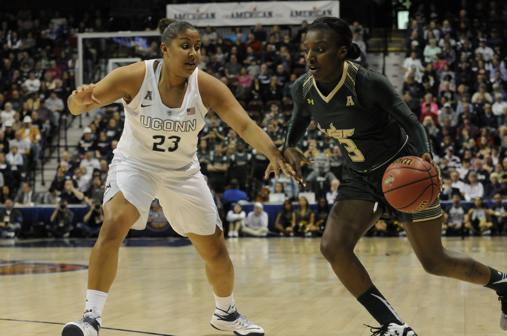 Kaleena Mosquesda-Lewis is the greatest shooter in the history of women's college basketball. No team would be complete without her. (File Photo/The Daily Campus)