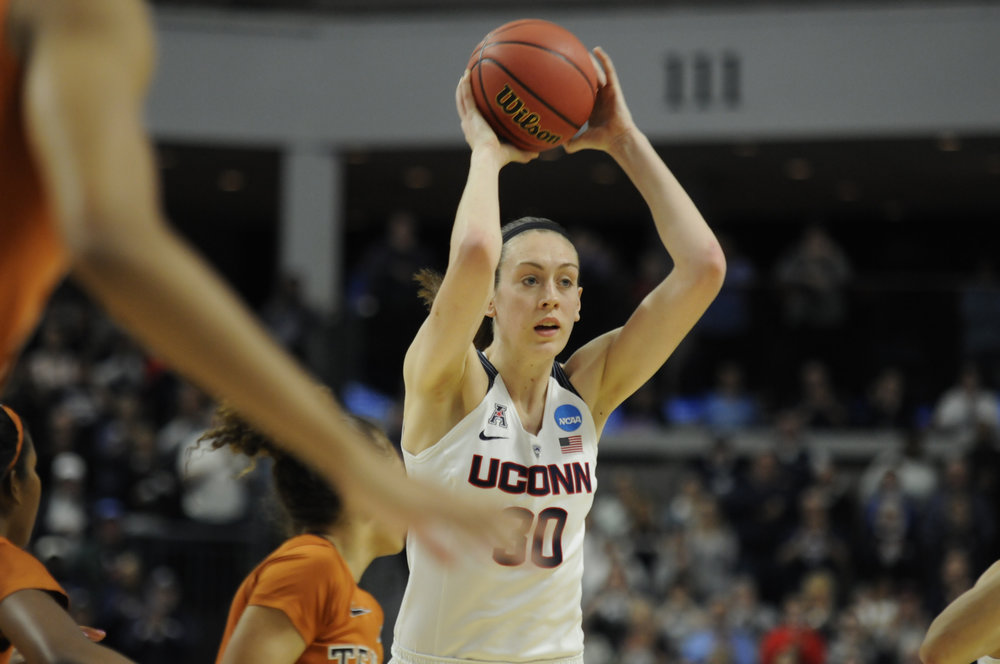 Breanna Stewart's biggest asset to this team are her rebounding and shot blocking abilities. (Bailey Wright/The Daily Campus)