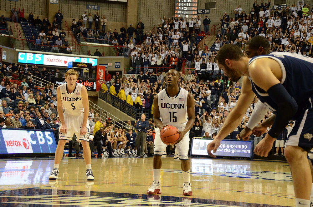 Pictured: Kemba Walker from the Huskies' November, 2010 game vs UNH. Kemba was a dominant player in this season and was a huge contribution in helping UConn make it to the Big East Tournament in 2011. (File Photo/The Daily Campus)