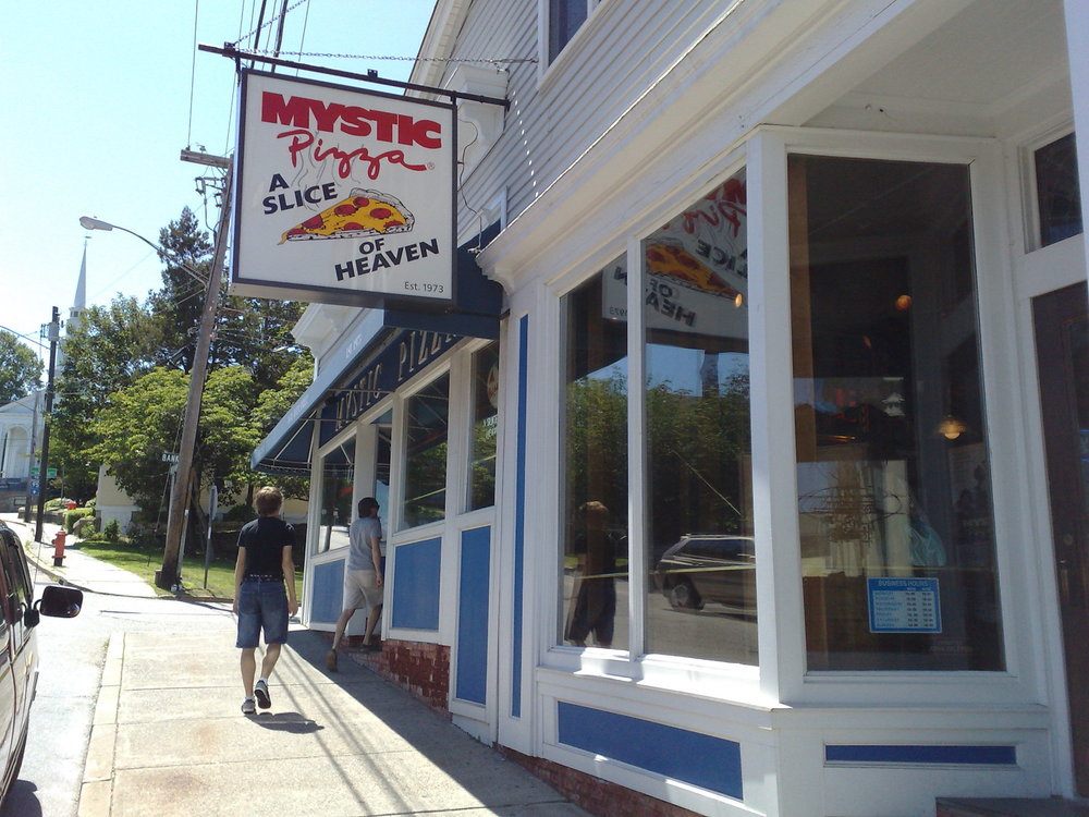 The famous Mystic Pizza, located in Mystic, CT that was featured in the movie starring Julia Roberts. Mystic is one of a few places to visit in CT over this coming Spring Break. (Matt Lehrer/Creative Commons)