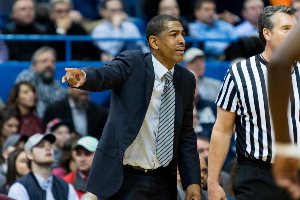 Men's basketball head coach Kevin Ollie looks on during UConn's game against Auburn Dec. 23 at the XL Center (Jackson Haigis/The Daily Campus)