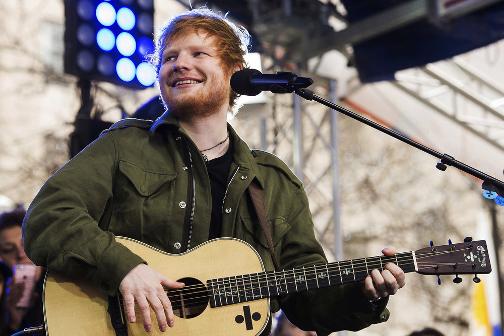 "Ed Sheeran performs on NBC's ""Today"" show on Wednesday, March 8, 2017, in New York. (Charles Sykes/AP Exchange)"