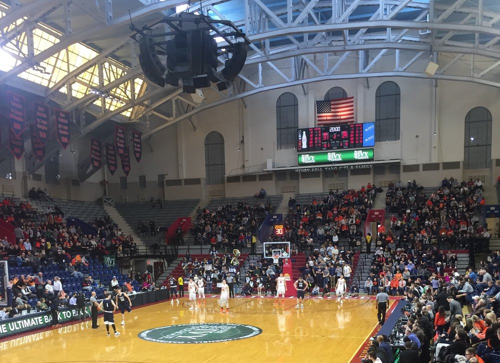 Staff Writer Matt Kren's view of the Palestra in Philadelphia, Pennsylvania as Princeton defeated Yale in the inaugural Ivy League tournament championship on Sunday, March 12 2017. (Matt Kren/The Daily Campus