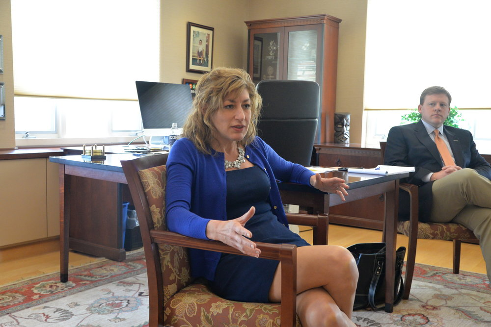 UConn's president, Susan Herbst, will hold office hours this Tuesday from 2 to 4 p.m. The purpose is to give students the opportunity to share their ideas, suggestions and questions. (Amar Batra/The Daily Campus)